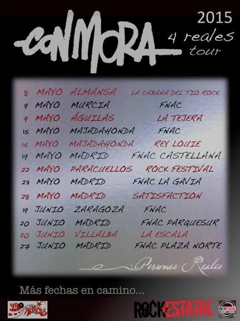 con mora 4 reales tour 2015