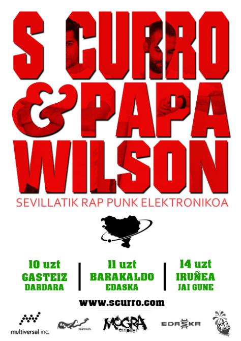 Cartel GORA HERRIA web S CURRO & PAPA WILSON en Euskal Herria