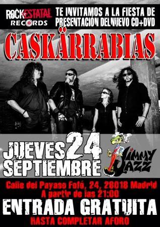 caskarrabias concierto presentación disco madrid