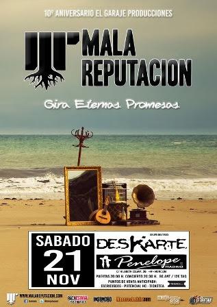 Mala Reputación presenta el 21 de noviembre Eternas Promesas en Madrid