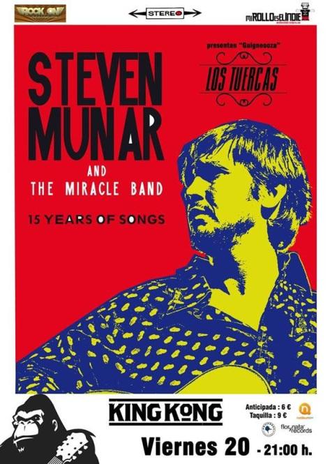 Steven Munar y Los Tuercas presentan discos en King Kong de Zaragoza el viernes 20