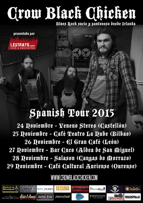 Cambio de sala en Bilbao para la gira de Crow Black Chicken