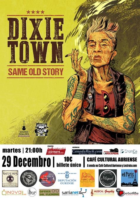Dixie Town presentan Same Old Story en Galicia 29D