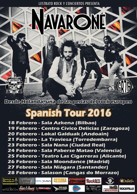 Navarone añaden Andoain y Ciudad Real a su gira española en febrero