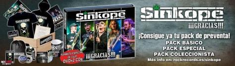 Sínkope presenta portada, teaser y preventa de su trabajo en directo '¡¡¡Gracias!!!' 1