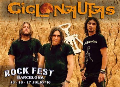 CICLONAUTAS confirmados en el ROCK FEST de Barcelona 2016 tras un fin de semana apoteósico en Cataluña 1