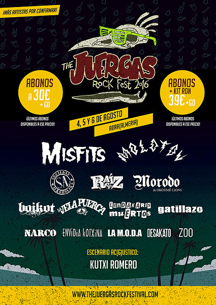 Cinco nuevas confirmaciones se suman al cartel de The Juergas Rock Festival