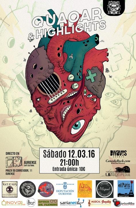 El rock sin límites de QUAOAR y HIGHLIGHTS sonará este sábado en Ourense 2