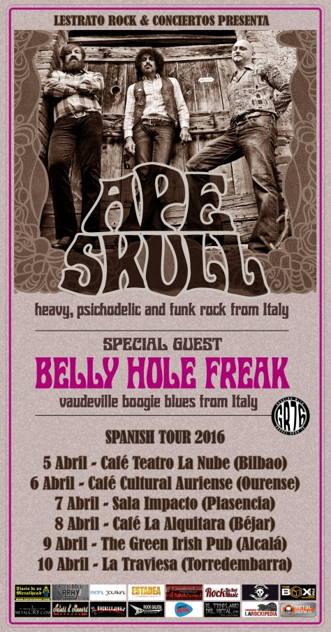 En abril llegará el vintage rock y delta blues de los italianos Ape Skull y Belly Hole Freak