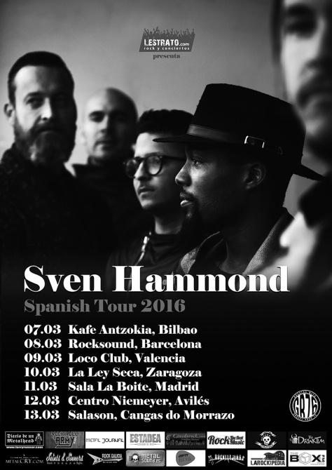 Sven Hammond de gira con su arrollador soul-rock lleno de groove y ritmo funk