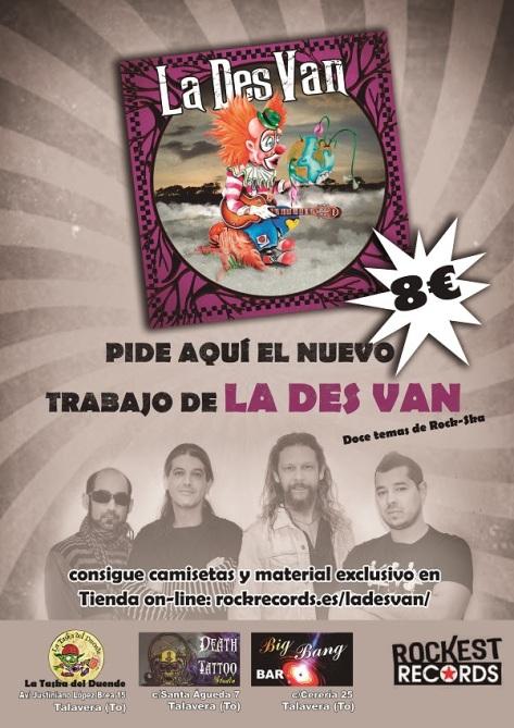 Ya a la venta el nuevo disco del grupo rock-ska La Des Van 2