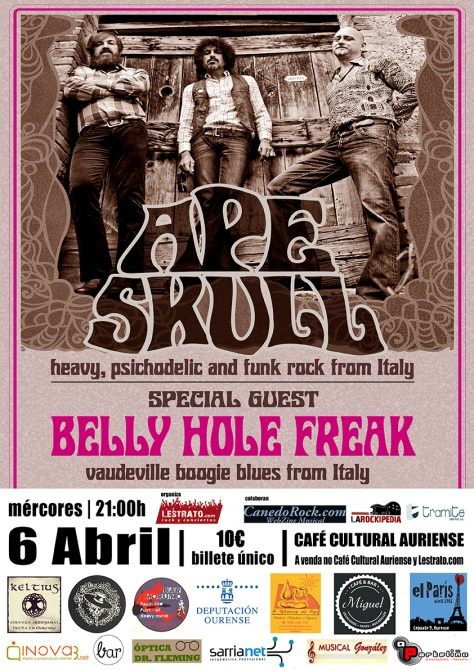 El blues rock vintage de Ape Skull y el boogie delta blues de Belly Hole Freak arrasarán Ourense 2