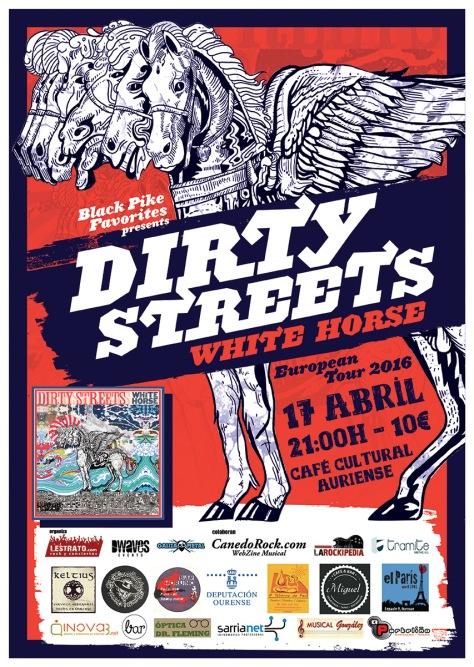 El boogie blues pscodélico de DIRTY STREETS conquistará Ourense 2