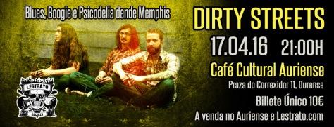 El boogie blues pscodélico de DIRTY STREETS conquistará Ourense