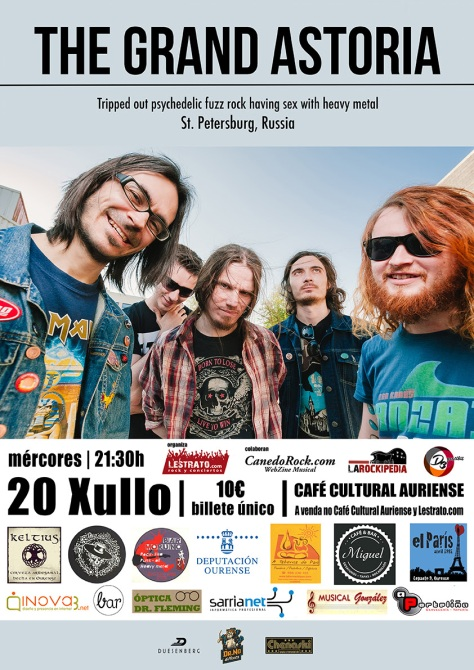 Los rusos The Grand Astoria vuelven a Ourense con su potente fuzz psych rock 2