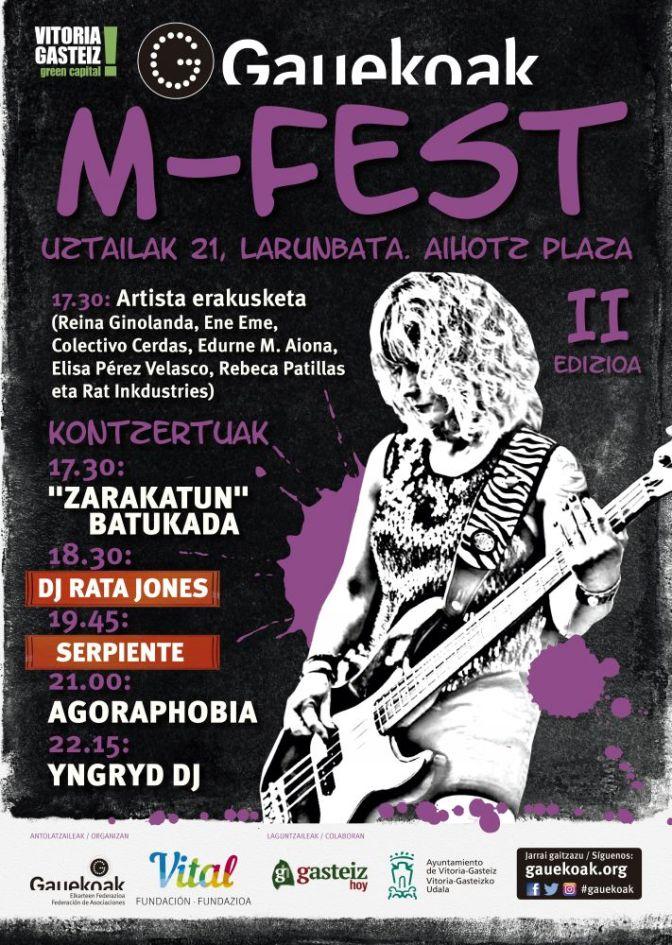 La plaza del Machete acoge el 21 de julio la segunda edición de M-Fest