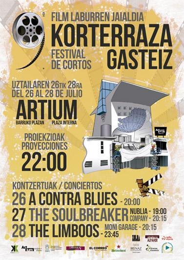 Korterraza Gasteiz llega del 26 al 28 de julio con 42 cortos y 5 conciertos