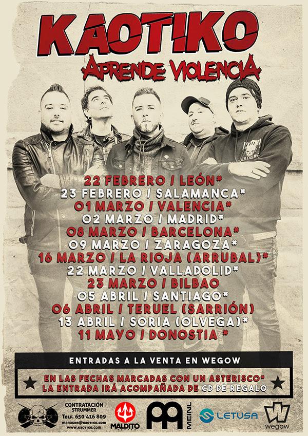 """KAOTIKO anuncia las primeras fechas de la gira de presentación de """"Aprende Violencia"""""""